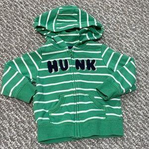 Baby Boy Sweatshirt Hooded Zip Up